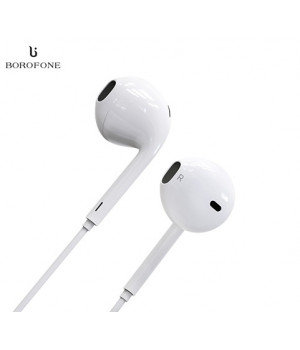 Наушники Borofone BM8 MoreMelody 3.5mm Wired Control Earphone (Белый)