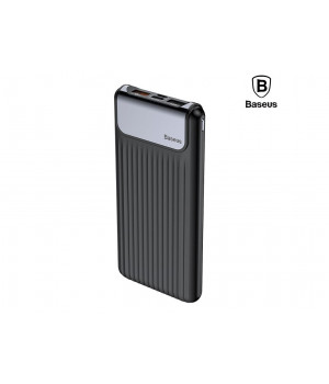 Внешний аккумулятор Baseus Thin QC3.0 M+T Daul input Digital display Power bank 10000mAh
